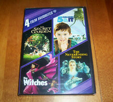 4 FILM FAVORITES CHILDREN'S FANTASY Secret Garden Witches 4 Movies DVD SET NEW