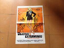 Usado - OBJETIVO : EXTERMINIO - OMAR SHARIF - Poster Cartel Cine - 50 X 35 cm
