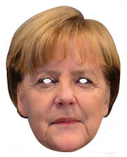 Angela Merkel Celebrity 2D Careta De Cartón Fiesta Disfraz Alemán Político
