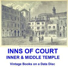 Inns of Court Inner & Middle Temple Legal History Vintage eBooks on a Data Disc