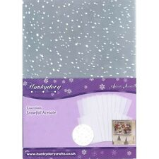 Hunkydory - Snowfall Acetate - 10 Sheet Pack