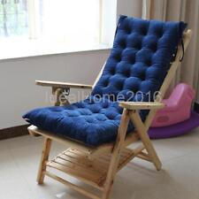 Winter Lounge Chair Pad Thickened Outdoor Non-slip Rattan Couch Cushion Blue