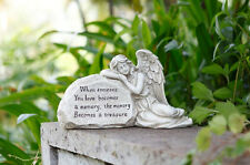 Laying Angel Stone Garden Cemtery Memorial Rock