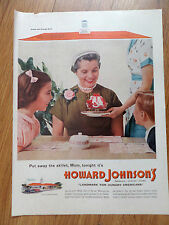 1955 Howard Johnson's Ad Mom Night Out  Landmark for Hungry Americans