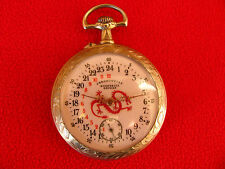 RARE!!! CHINA CHRONOMETER REGULATOR 24 HOUR POCKET WATCH CHINESE RAILWAYS 1900
