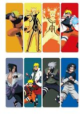8pcs/set Anime NARUTO PVC Bookmarks Printed W Uchiha Sasuke Uzumaki Kakashi!