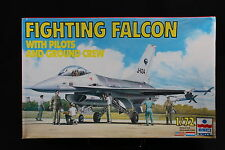 YB011 ESCI 1/72 maquette avion 9078 Fighting Falcon with pilots and ground crew
