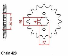 NEW HONDA 15T FRONT SPROCKET 274.15 CHAIN SERIES 428 CRF100F XR100R