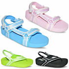 Ladies Womens Low Platform Wedge Heel 3Velcro Sports Sandals Size UK 4 5 6 7 8