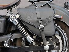 SADDLE BAG LEATHER LEFT&RIGHT SIDE FOR HARLEY DAVIDSON DYNA  MADE IN ITALY
