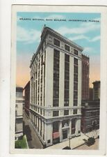 Atlantic National Bank Building Jacksonville Florida USA Vintage Postcard 170b