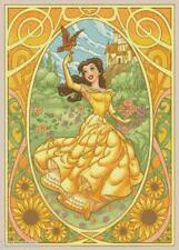 "Disney's Beauty and the Beast's Art Nouveau ""Belle"" X-Stitch Pattern CD  Fantasy"