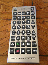 INNOVAGE JUMBO COMICAL TV DVD VCR CABLE SATELLITE UNIVERSAL REMOTE CONTROL