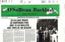 O'Sullivan Lake Lodge 1986 St Sauveur Quebec Canada Vintage Newspaper