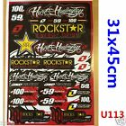 Rockstar Sticker Decal Car Motorised Bike Dirt ATV Quad Motorcycle Motocross
