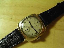 RARE ROLEX CUSHION CASE 1920s 9CT SOLID GOLD VINTAGE MENS WATCH