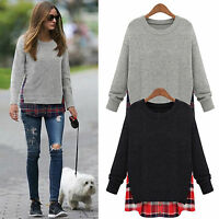 Ladies Womens Oversized Baggy Knitted Pullover Jumper Sweater Top Plus Size 6-20
