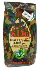 BUSTA 4000 PALLINI BIO SOFTAIR BIANCHI  BIODEGRADABILI 0.25g KING AIRSOFT BBS