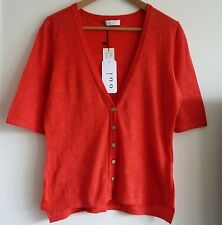 BNWT Oui Beautiful Summer Cardigan in Red Colour, Size 36 (UK 10) RRP £70 New!