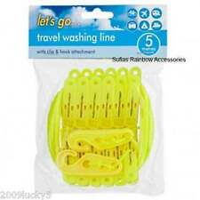 Washing Line & Clip Pegs Travel Clothing Camping Outdoor Use Laundry