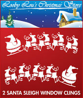 SANTA SLEIGH WINDOW CLING CHRISTMAS STICKERS XMAS