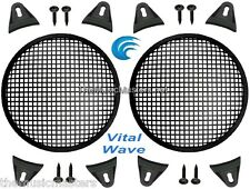 "2X Black 6.5"" inch Sub Woofer Speaker Mesh WAFFLE GRILL Protective Covers VWLTW"