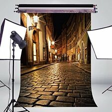 5x7ft Exquisite city night life street road quite silicence Photography Backdrop