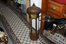 Vintage India Middle Eastern Copper Metal Wall Hanging Lamp-#1-Temple Dome