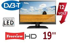 NEW! TV 19'' FOR TRUCK, Freeview HD, CAR 12V & 230V ,DVB-T MPEG4 HD, USB DiVX,