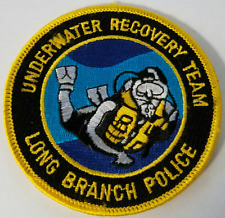 Underwater Recovery Team Long Branch Police Cloth Patch