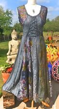 STUNNING NEW BLACK DRESS SIZE UK 10 12 HIPPIE FESTIVAL BOHO TIE DYE SKIRT FAIRY