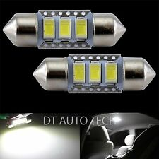 2X High Power 5630 Chip LED White Map/Dome Interior Lights Bulbs 31MM Festoon