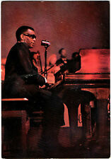 Publicity Postcard of a young pianist-The late Ray Charles(1930-2004)Ektachrome