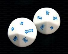 NEW Pair of French Word Numbered D10 Dice - 10 Sided Language Dice -D&D RPG Game
