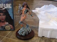 1997 WITCHBLADE 1st Edition Statue / Signed #36 of 300 Sterling Silver, Emerald
