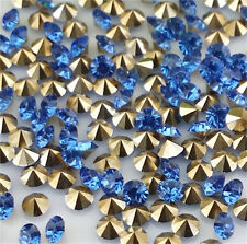 A level 100pcs6mm Light blue Crystal beads Point back Rhinestones Resin Chatons