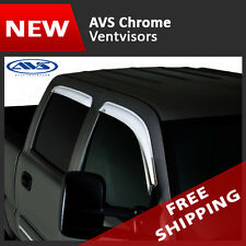 AVS Chrome Vent Visors Deflector Rain Guards for 2007-2014 Chevrolet Tahoe