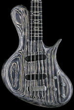 Ritter R8 Singlecut 4 String Bass With Case - Sand Blasted Black