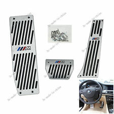 1X Car DIY BMW M E46 E90 E92 E87 AT Auto Automatic Aluminum Pedal Covers Pad Kit