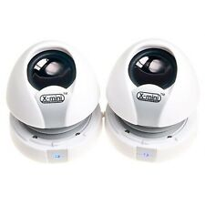 xmi X-Mini Max II 2 x Dual Capsule Portable Travel Speakers iphone, ipad WHITE