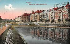 AK Glogau / Głogów Schlesien Anlagen am König Friedrich - Platz Postkarte 1917