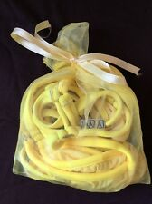 Genuine WICKED WEASEL micro yellow thong bikinis set - size S/M - RARE!!!