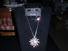 """Park Lane Jewelry, """"SOLARA"""" Necklace & """"AMUSE"""" Earrings Silvertone, Crystals NEW"""