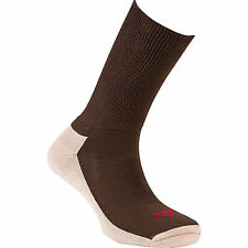 TRAVEL RX Mens Cushioned Crew Socks NWT Brown MSRP $60 Fits Shoe Size 7-12