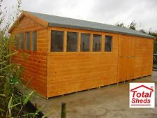 20 x 10 HEAVY DUTY EXTRA HEIGHT SHED 19mm T&G SHIPLAP TOP QUALITY TIMBER