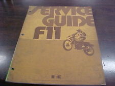Vintage Kawasaki Fll Service Guide Copy Right 1972