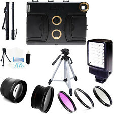 Melamount Case 37mm HD 2.0x conveter and wide angle Lens, ... kit for iPad 2,3,4