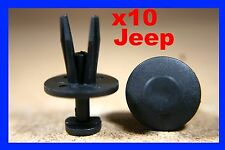 10 Jeep Chrysler front rear bumper fender fascia scuff strip fastener clips