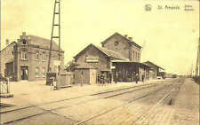 Reproduction photo d'une carte postale de la gare de Saint-Amands