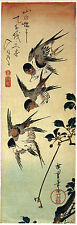 Japanese Art: Hiroshige Birds: 5 Swallows: Fine Art Print